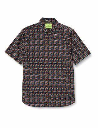 Scotch & Soda Men's Regular Fit- All-Over Printed Shortsleeve Shirt Casual