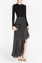 Rosetta Getty Spiral Asymmetric Skirt