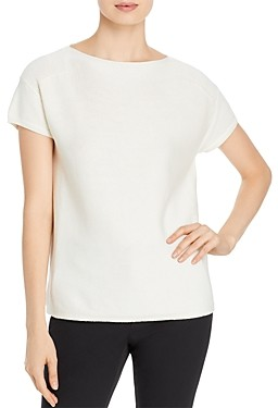 Lafayette 148 New York Ribbed Bateau Neck Tee