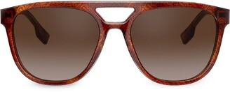 Burberry Eyewear Cut-Out Aviator Sunglasses
