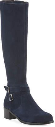 Neiman Marcus Ulina Weatherproof Suede Riding Boots