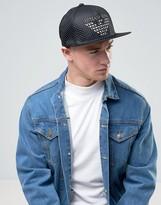 Armani Jeans Mesh Logo Cap In Black