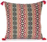 Karma Living Rich Jacquard Tapestry 20 x 20 Pillow - Pink/Black