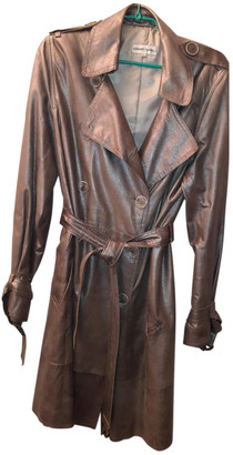 Gerard Darel Silver Leather Trench coats
