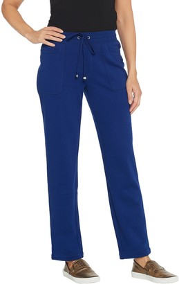 Isaac Mizrahi Live! Regular SOHO Plushed Back Straight Leg Pants