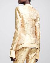 Wes Gordon Filigree-Brocade Tuxedo Jacket