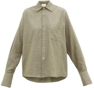 Marrakshi Life - French-cuff Cotton-blend Jersey Shirt - Dark Green