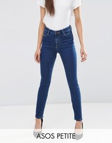 Asos Ridley High Waist Skinny Jeans in Kioshi Flat Blue Wash