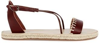 Ancient Greek Sandals Lola dark brown leather espadrille sandals