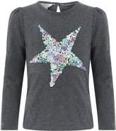 Monsoon Girls Sequin Star T-Shirt