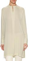 Helmut Lang Silk Mandarin Shirt Tunic