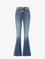 Thumbnail for your product : Mother The Weekender flared mid-rise stretch-denim jeans