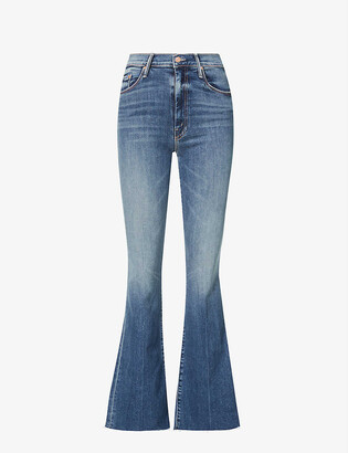 Mother The Weekender flared mid-rise stretch-denim jeans