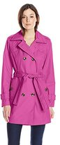 London Fog Women's Quilted Trench Coat