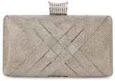 Jessica McClintock Champagne Noelle Woven Clutch