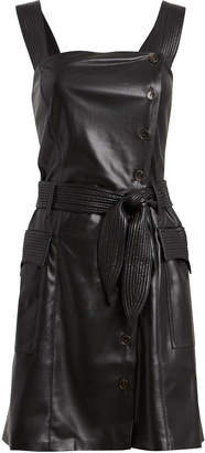 Nanushka Charo Vegan Leather Mini Dress
