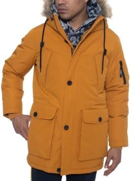 Sean John Men's Faux Fur Trimmed Multi Pocket Parka