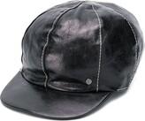 Maison Michel Kris leather cap