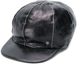Maison Michel Kris leather cap