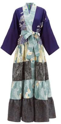 RIANNA + NINA Volant Patchwork Silk Coat - Multi