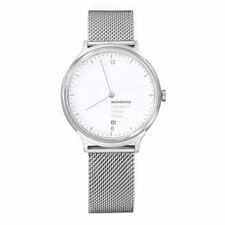 Mondaine Unisex MH1.L2210.SM Helvetica Analog Swiss Quartz Silver Watch