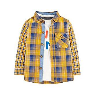Mothercare Baby MB MM YLW Check Shirt & TEE LS T - Shirt,(Size:104)