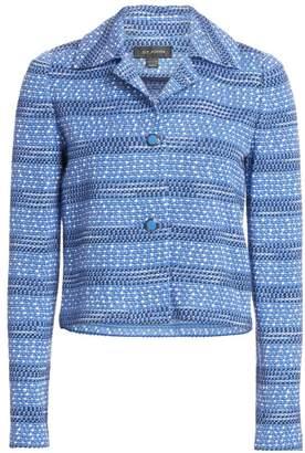 St. John Spread Collar Tweed Jacket