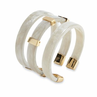 Mud Pie Women's RESIN CUFF WHITE One Size