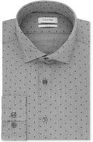 Calvin Klein Men's Slim-Fit STEEL Performance Logo Print Dress Shirt