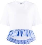 MSGM striped peplum hem T-shirt