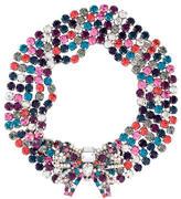 Miu Miu Crystal Bow Collar Necklace