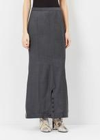 Junya Watanabe gray upside down pantskirt