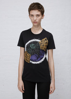 Courreges noir short sleeve graphic t-shirt