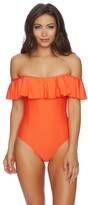 Splendid Sun-sational Solids Off Shoulder One Piece