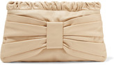 RED Valentino Bow-embellished leather clutch