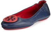 Tory Burch Minnie Travel Ballerina Flat, Red/Blue