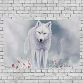 ONEERA Wall Tapestry Cool Wolf Wall Hanging Throw Bedspread For Home Livingroom Dorm