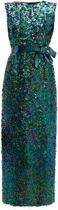 William Vintage - Norman Norell 1965 Mermaid Sequinned Gown - Womens - Green
