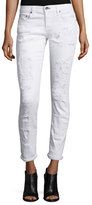 Rag & Bone Dre Distressed Cropped Skinny Jeans, White Brigade