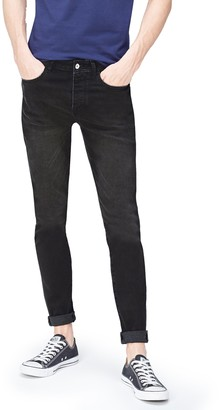 Find. Men's Skinny Jeans in 5-Pocket Detail Cropped with Button and zip Closure