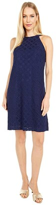 Lilly Pulitzer Rayanne Shift (True Navy Pineapple Geo Lace) Women's Dress