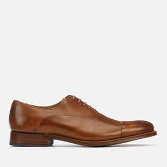 Grenson Men's Bert Hand Painted Leather Toe Cap Oxford Shoes - Tan