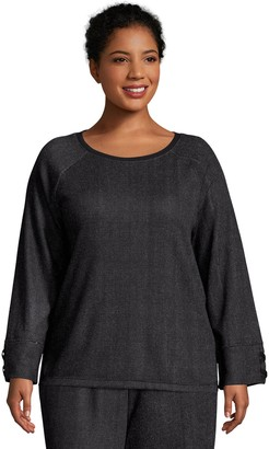 Just My Size French Terry Sweatshirt with Lace-up Sleeves