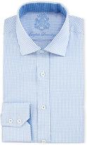 English Laundry Micro-Check Cotton Dress Shirt, Light Blue