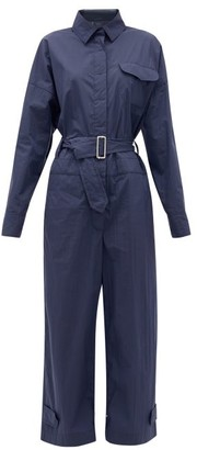 2 Moncler 1952 - Tuta Belted Cotton-blend Taffeta Jumpsuit - Navy