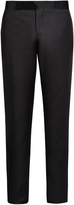 Giorgio Armani Silk-panelled wool-blend tuxedo trousers