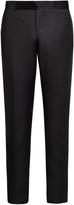 Giorgio Armani Silk-panelled wool-blend tuxedo trousers