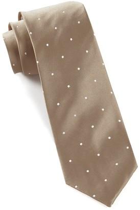 Tie Bar Satin Dot Champagne Tie
