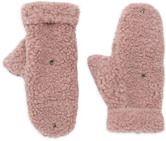 Surell Girl's Faux Shearling Flip-Top Mittens