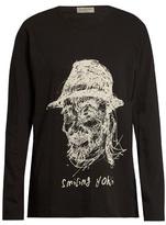 Yohji Yamamoto Smiling Yohji Long-sleeved Cotton Top